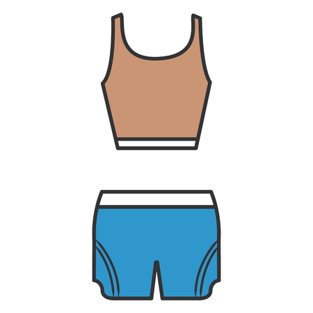 textile industry: female gym dress icon vector illustration design Illustration