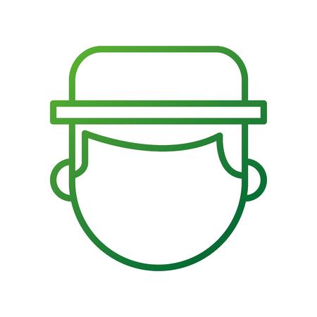 farmer hat character profession worker design vector illustration