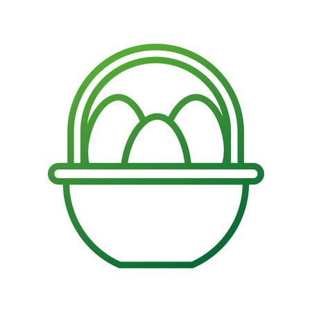 boerderij mand en ei voedsel natuurlijke vectorillustratie