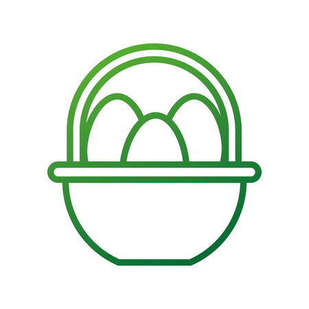 farm basket and egg food natural vector illustration Иллюстрация