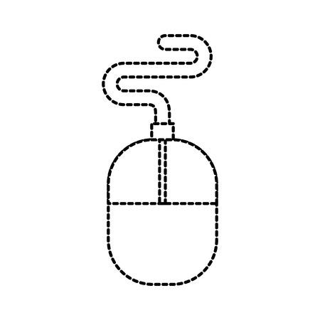 technology mouse tool designer equipment vector illustration