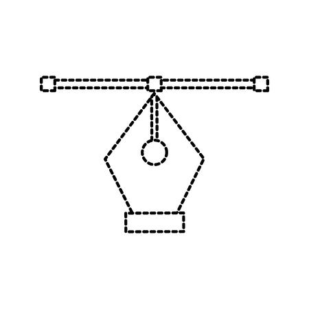 designer graphic fountain pen line design creative process vector illustration Illusztráció