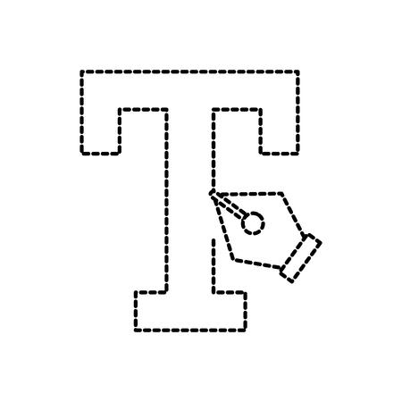 フォント文字万年筆グラフィック デザイン ツール ベクトル図  イラスト・ベクター素材
