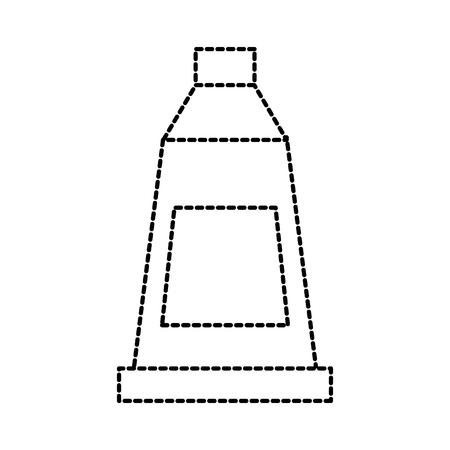 白い背景ベクトル図に絶縁チューブ芸術アクリルをペイントします。