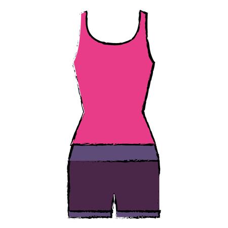 female gym dress icon vector illustration design Illustration