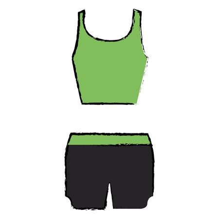 female gym dress icon vector illustration design Çizim