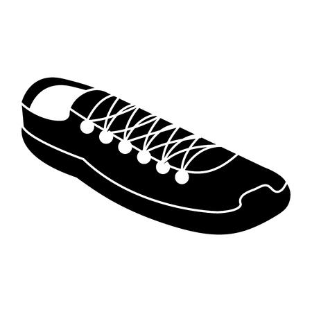 Sportschoenen geïsoleerd pictogram vector illustratie ontwerp