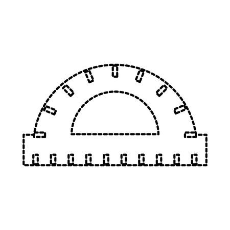 分度器定規スケール メジャー ツール アイコン ベクトル図  イラスト・ベクター素材