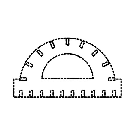 protractor ruler scale measure tool icon vector illustration