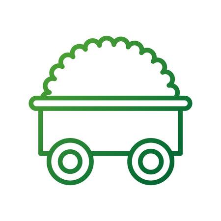 Ilustración de vector de transporte agricultura tractor remolque agricultura Foto de archivo - 87680535