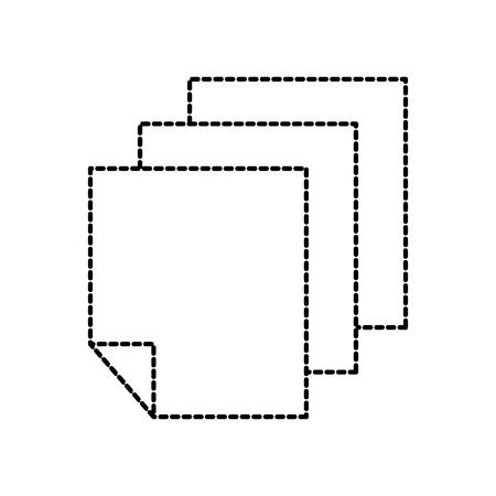Documento carta illustrazione vettoriale di disegno del foglio di carta Archivio Fotografico - 87680546