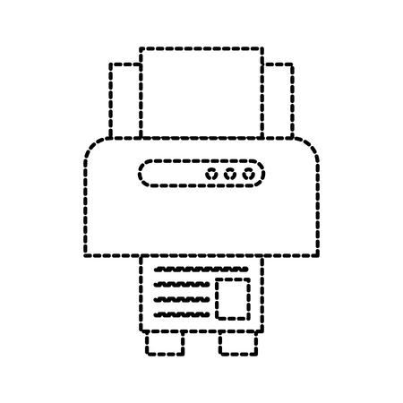 printer device paper copy sheet technology vector illustration Ilustração