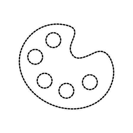 art palette creative instrument design flat icon vector illustration
