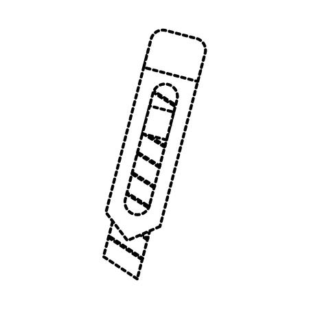 블레이드 커터 편지지 공급 아이콘 이미지 벡터 일러스트 레이션
