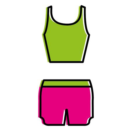 female gym dress icon vector illustration design Stok Fotoğraf - 87680680
