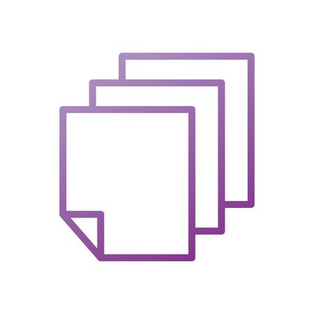 paper document blank sheet design vector illustration