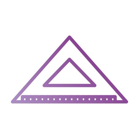 三角定規スケール メジャー ツール アイコン ベクトル図  イラスト・ベクター素材