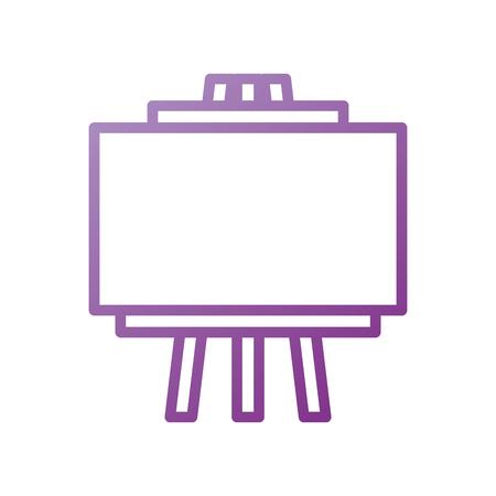 graphic design presentation board work view vector illustration
