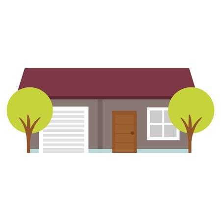 建物木ベクトル イラスト デザインの美しい家  イラスト・ベクター素材