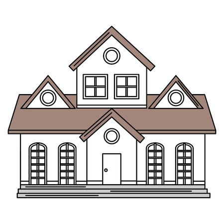 beautiful house building isolated icon vector illustration design