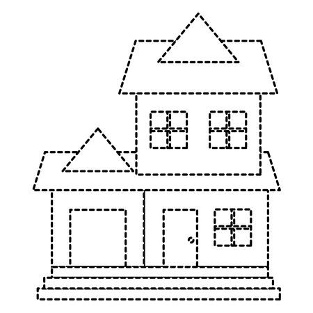 建物の分離のアイコン ベクトル イラスト デザインの美しい家
