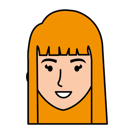 beautiful woman head avatar character vector illustration design Ilustração