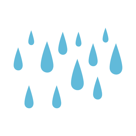 rain drops isolated icon vector illustration design