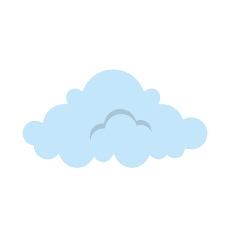 cloud weather symbol icon vector illustration design 向量圖像