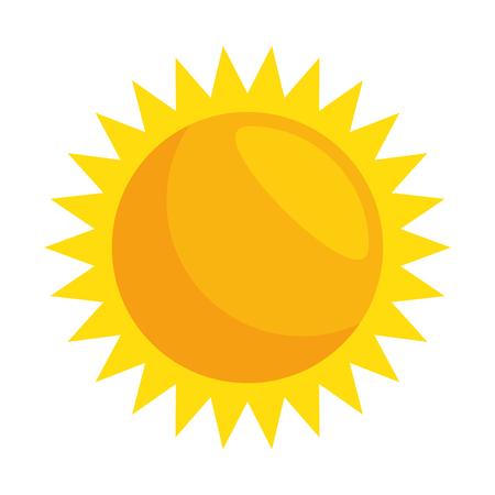 夏の太陽のアイコン ベクトル イラスト デザインを分離しました。
