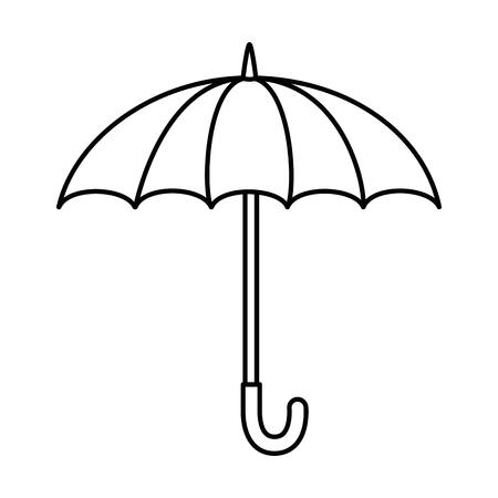 umbrella protective isolated icon vector illustration design 向量圖像