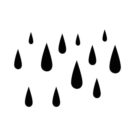 regen druppels geïsoleerd pictogram vector illustratie ontwerp