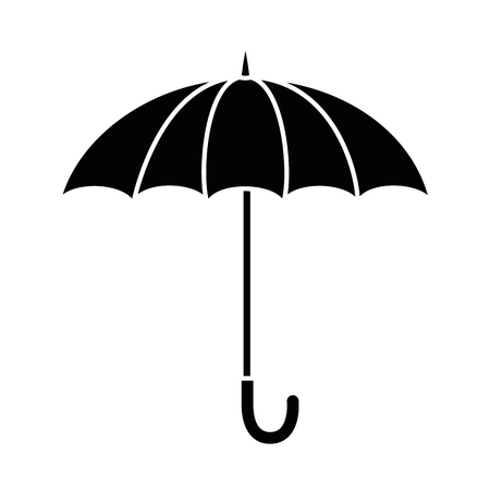 umbrella protective isolated icon vector illustration design Stock Vector - 87692007