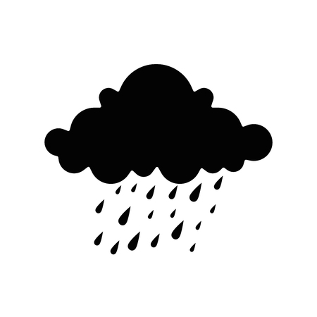 cloud weather with drops vector illustration design Banco de Imagens - 87692027