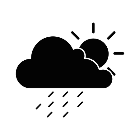 cloud weather with sun and rain vector illustration design 版權商用圖片 - 87692028