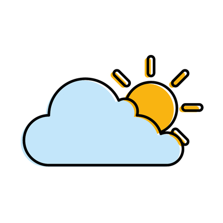 cloud weather with sun vector illustration design 版權商用圖片 - 87882609