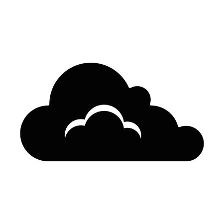 cloud weather symbol icon vector illustration design 向量圖像