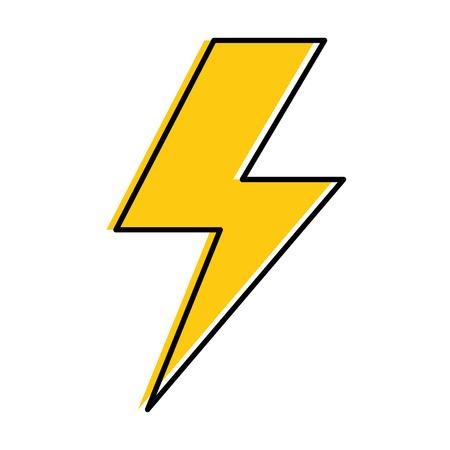 Energie straal geïsoleerd pictogram vector illustratie ontwerp Stockfoto - 87692040