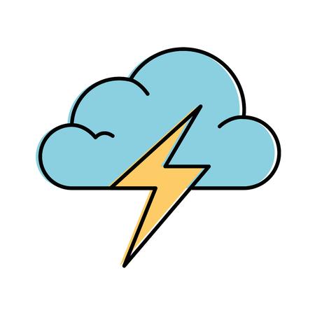 cloud weather with thunder vector illustration design 版權商用圖片 - 87692105
