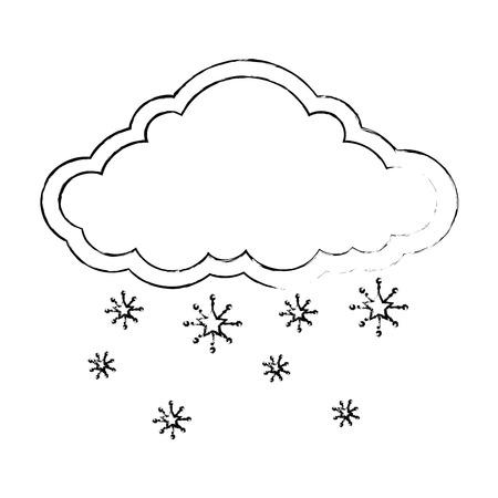 눈송이 벡터 일러스트 디자인 구름 날씨