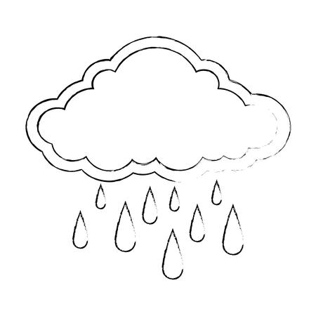雲の滴ベクトル イラスト デザインと天気