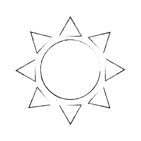 summer sun isolated icon vector illustration design