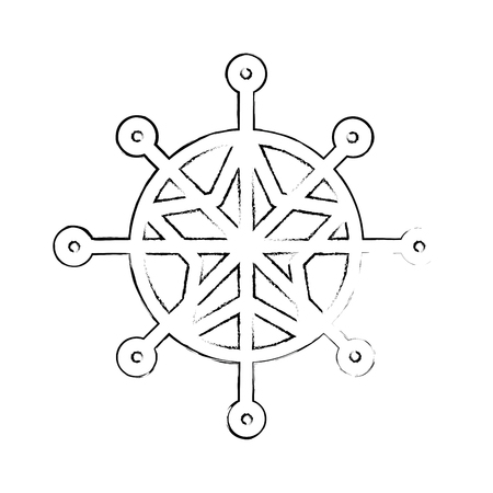 snowflake winter isolated icon vector illustration design