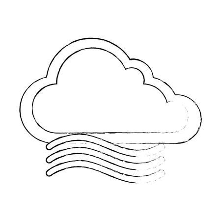 cloud weather with wind vector illustration design