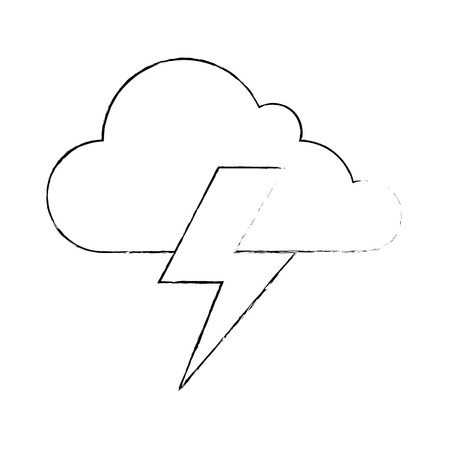 cloud weather with thunder vector illustration design 版權商用圖片 - 87692258