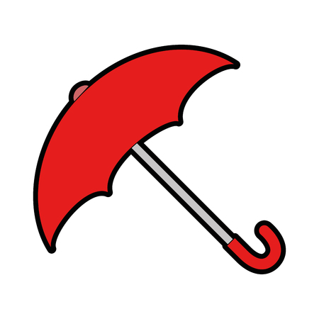 umbrella protective isolated icon vector illustration design Stock Vector - 87692263