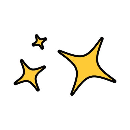stars night isolated icon vector illustration design