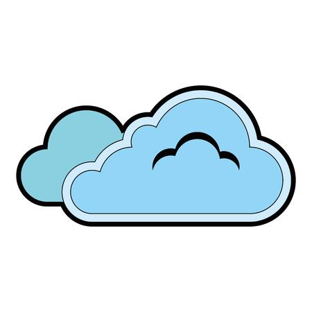 구름 날씨 기호 아이콘 벡터 일러스트 레이 션 디자인