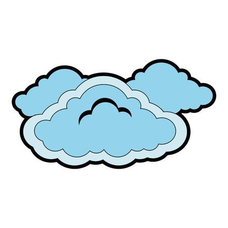 cloud weather symbol icon vector illustration design Ilustrace