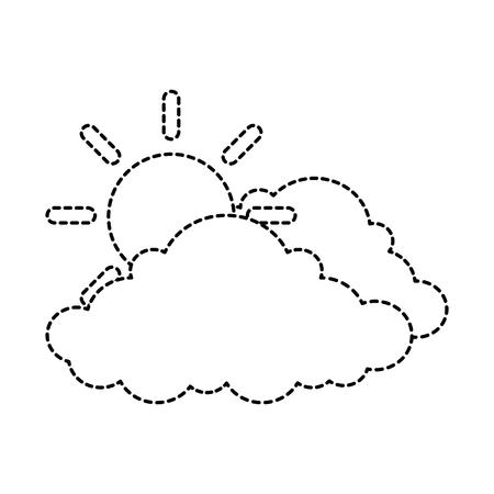cloud weather with sun vector illustration design 版權商用圖片 - 87692750