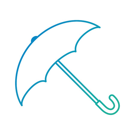 comfortable: umbrella protective isolated icon vector illustration design Illustration